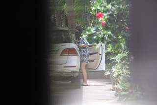 Rakul Preet Singh spotted at Jackky Bhagnani's house in Bandra