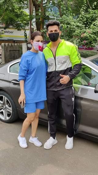 Prince Narula and Yuvika Chaudhary spotted at Andheri