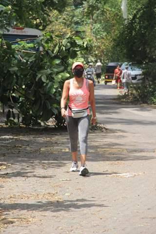 Mandira Bedi spotted at Phil Hill, Bandra