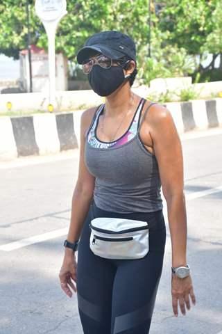 Mandira Bedi spotted in Pali Hill, Bandra