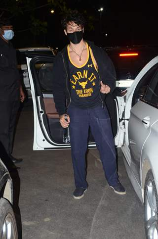 Tiger Shroff spotted in Andheri
