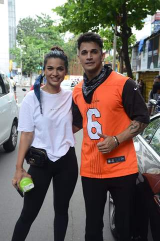 Prince Narula and Naina Singh snapped in Andheri
