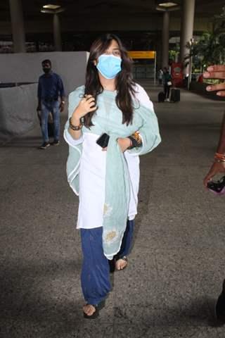 Ekta Kapoor snapped at Mumbai airport