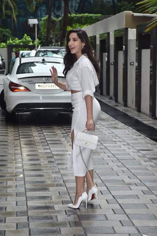 Nora Fatehi snapped at T-Series office, Andheri