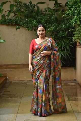 Vidya Balan snapped at the promotions of Sherni