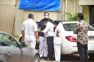 Randhir Kapoor spotted in Bandra