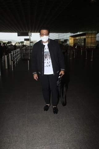 Govinda snapped at airport