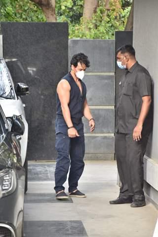 Tiger Shroff snapped at Pooja films office in Juhu