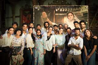 Gangubai Kathiawadi team after the wrapping up of the shoot