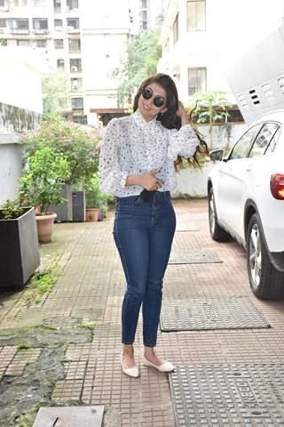 Pranitha Subhash at the promotions of 'Hungama 2'