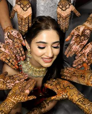 Inside pics: Disha Parmar Mehendi ceremony