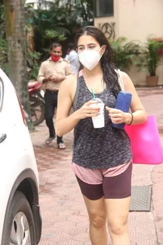 Sara Ali Khan snapped at gym