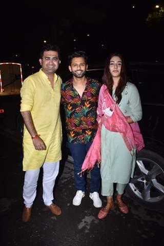 Rahul Vaidya-Disha Parmar snapped post Haldi function