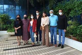 Akshay Kumar, Jacqueline Fernandez, Nushrratt Bharuccha snapped at Abundantia Entertainment's office