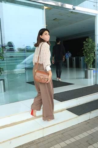 Jacqueline Fernandez snapped at Abundantia Entertainment's office