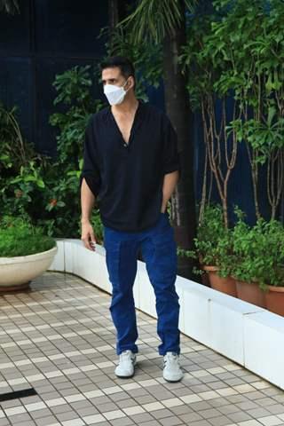 Akshay Kumar snapped at Abundantia Entertainment's office