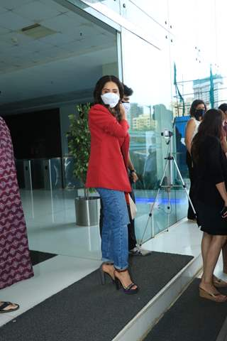 Nushrratt Bharuccha snapped at Abundantia Entertainment's office