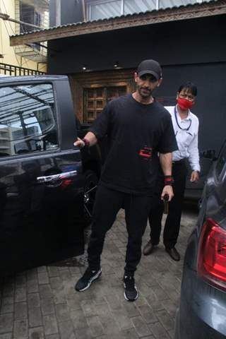 John Abraham spotted at gym