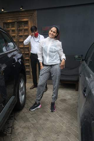 Genelia Deshmukh spotted at gym
