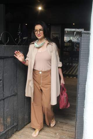 Tisca Chopra snapped at a salon in Khar