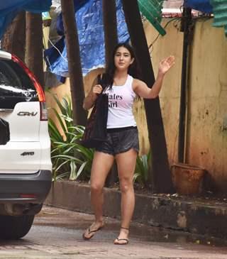 Sara Ali Khan snapped at Pilates