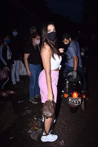 Nora Fatehi snapped at Versova