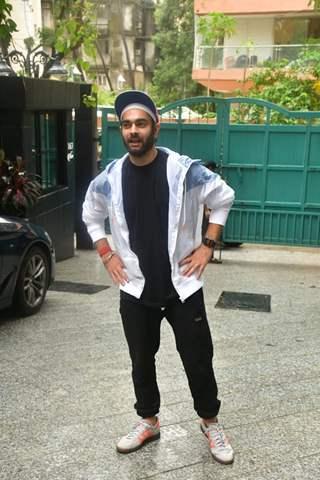Manjot Singh snapped at the screening of Chutzpah