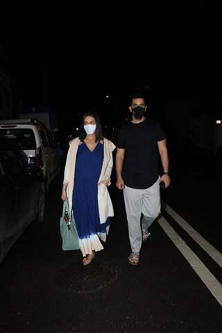 Neha Dhupia and Angad Bedi snapped in Bandra