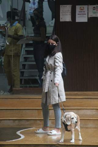 Soha Ali Khan snapped at a pet clinic