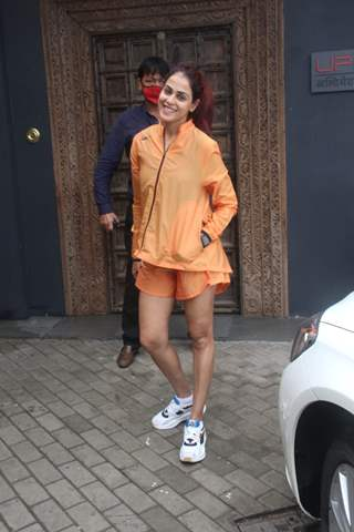 Genelia Deshmukh snapped at gym