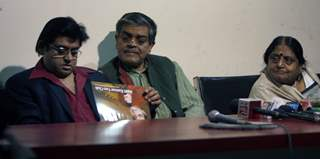 Amit Kumar, Sandip Roy & Ruma Guha Thakurta in 5th year celebration of Amit Kumar''s 40 years in his industry by launching a calendar of 2010 featuring the Singer in various moods by Amit kumar Fan Club Kolkata, on Sunday