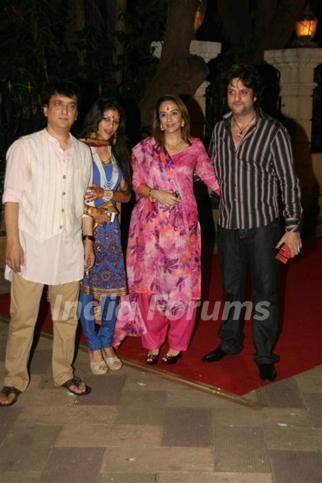 Fardeen Khan with wife Natasha at Sanjay Dutt's Mata Ki ...