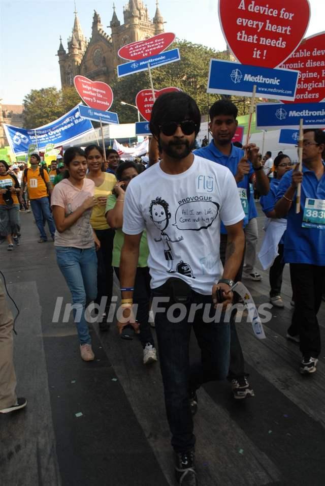 Manish Goel at Standard Chartered Mumbai Marathon 2011