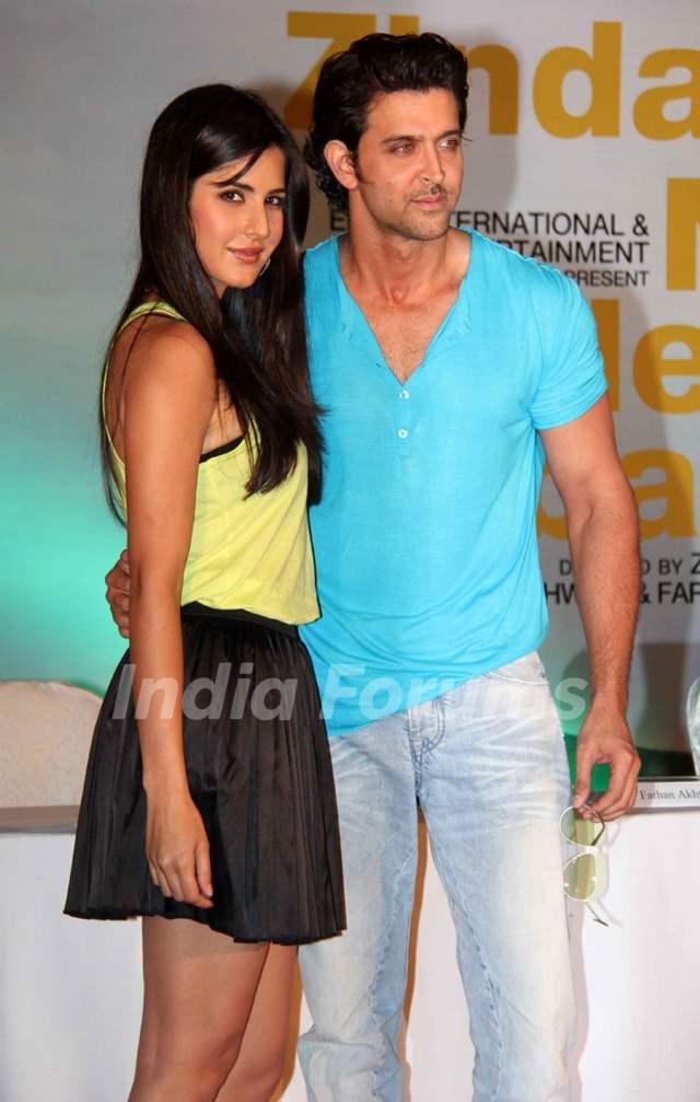 Hrithik Roshan and Katrina Kaif at 'Zindagi Na Milegi ...