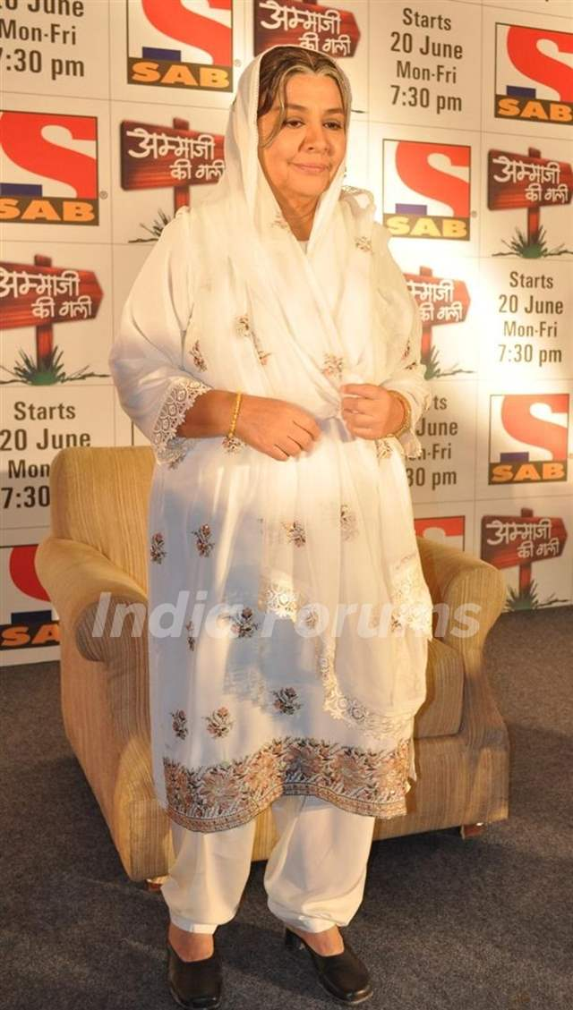 Farida Jalal at launch of SAB TV serial Ammaji Ki Galli at JW Marriott