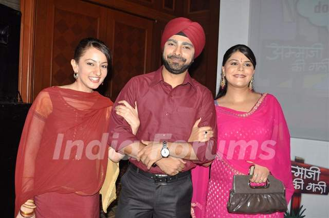 Upasana Shukla and Abir Goswami at launch of SAB TV serial Ammaji Ki Galli at JW Marriott