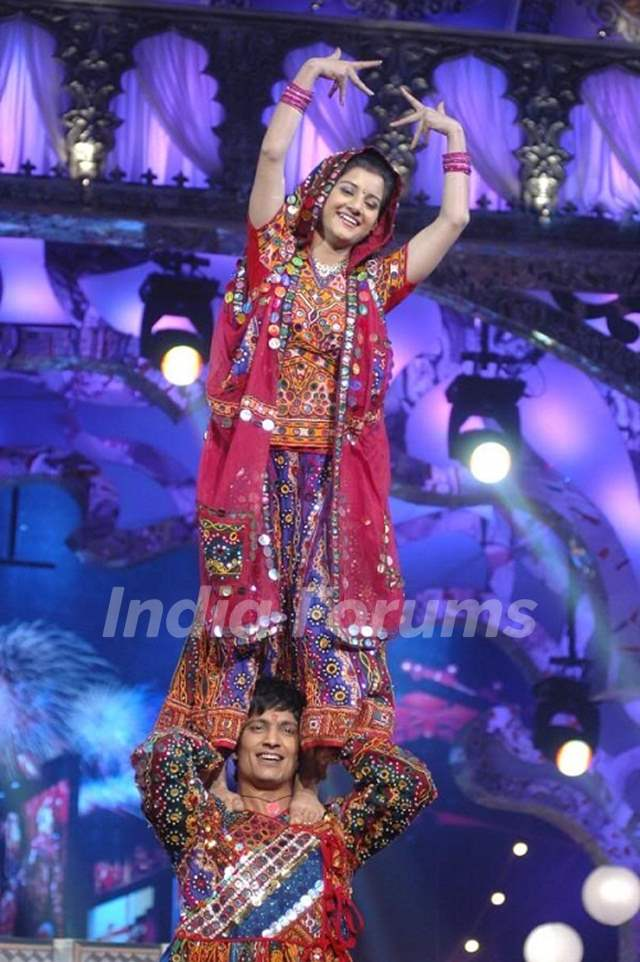 Anjali with Kapil in Nach Baliye