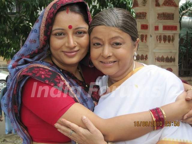Samta Sagar and Rita Bhaduri on last day shoot of Chhoti Bahu