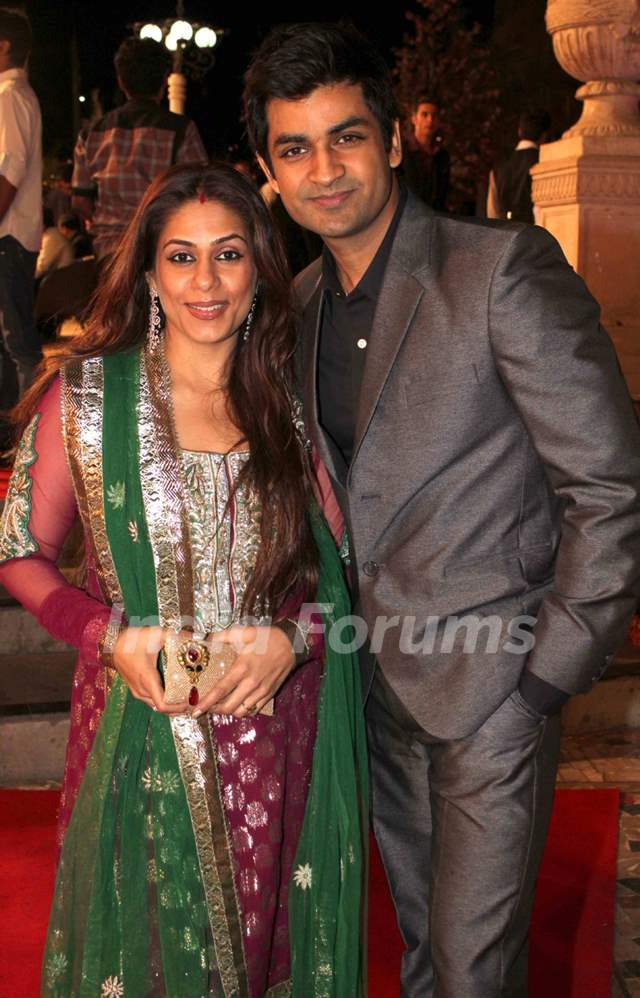 Poonam and Manish Goel grace Deepshikha Nagpal and Kaishav Arora wedding reception in Mumbai