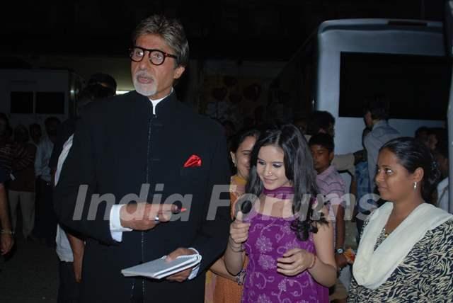 Shivshakti Sachdev with Amitabh Bachchan