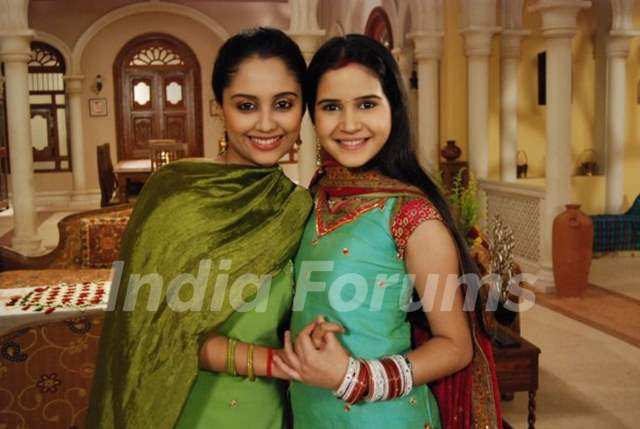 Aditi Tailang and Shivshakti Sachdev on sets of Sabki Laadli Bebo