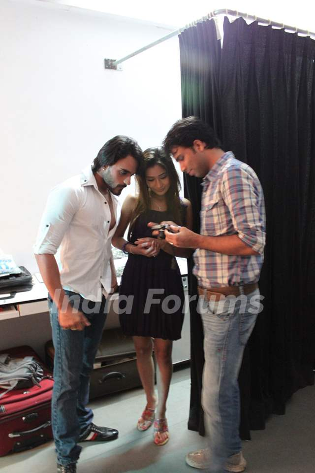 Sara Khan and Angad Hasija during a photo shoot