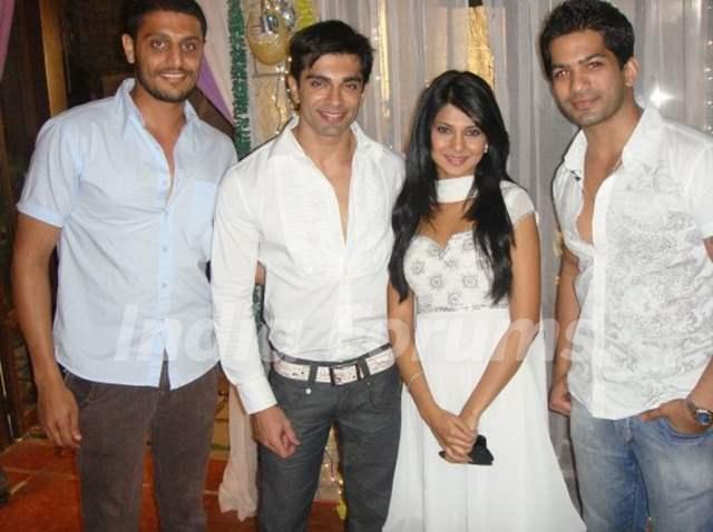 Karan Singh Grover, Jennifer Winget and Amit Tondon