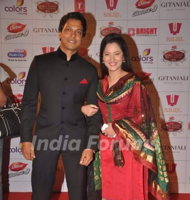 Ankita Lokhande, Mahesh Shetty At Global Indian Film And Television Honour Red Carpet