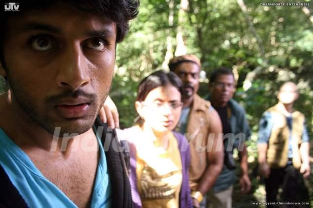Nitin,Rasika,Kali and Ravi looking shocked