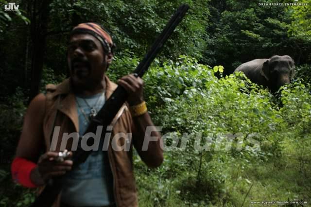 A still image of Ravi Kale in Agyaat movie