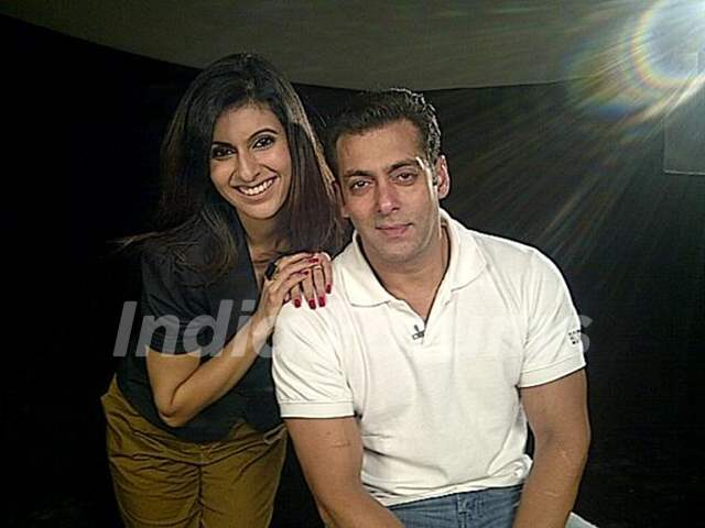 Khusboo and Salman Khan