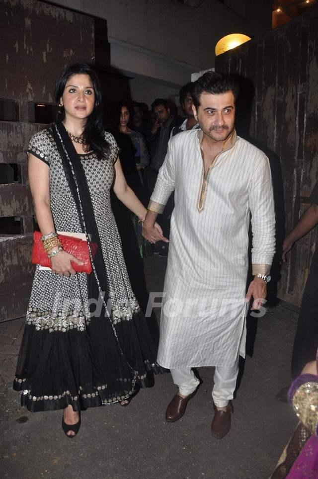 Sanjay Kapoor with wife Mahdeep Sandhu at Saif Ali Khan ... Saif Ali Khan Wife Details
