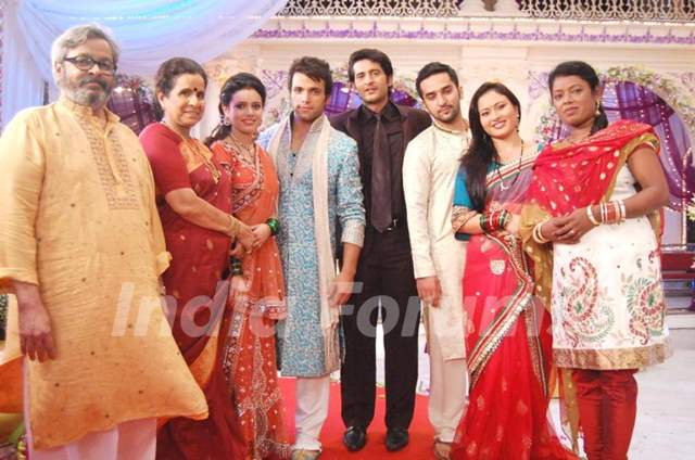 on the sets of Pavitra Rishta
