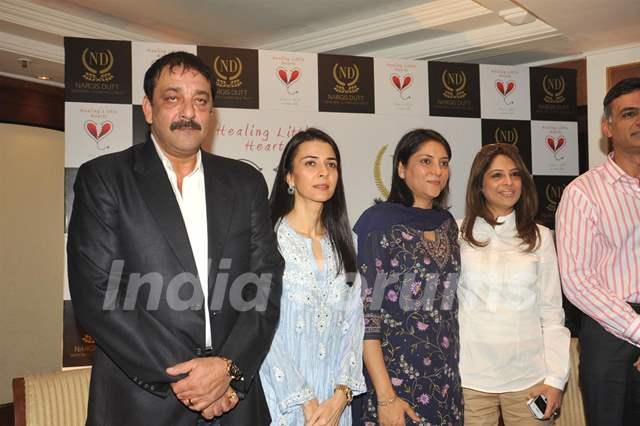 Sanjay Dutt with sisters Namrata Dutt and Priya Dutt ...